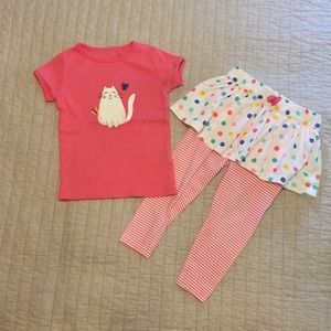 Polka Dot Cat Outfit